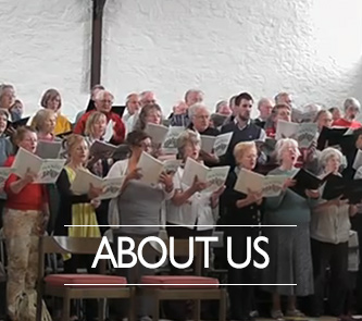 A choral society singing in a church
